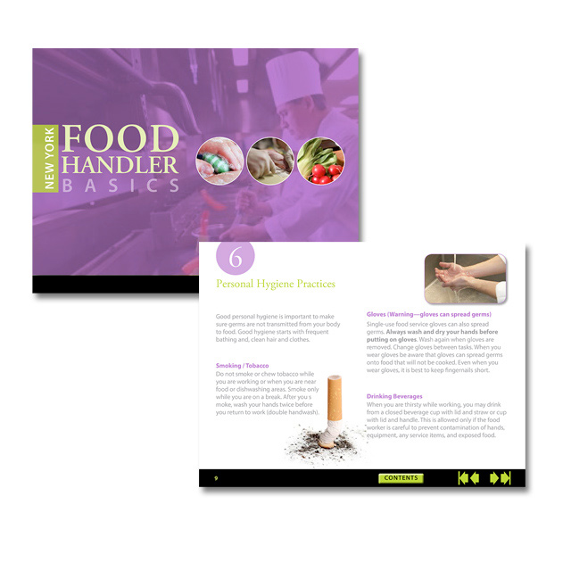 Food Handler Interactive Brochure