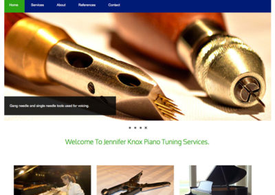 Piano Tuner Web Design